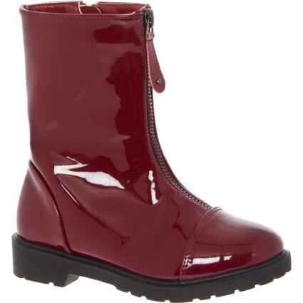 Maroon Capped Patent Boots
