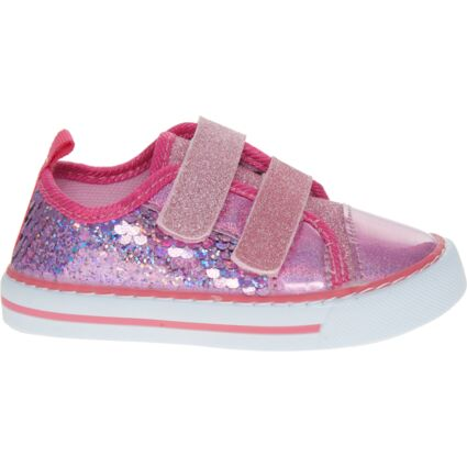 Pink Sequin & Glitter Shoes