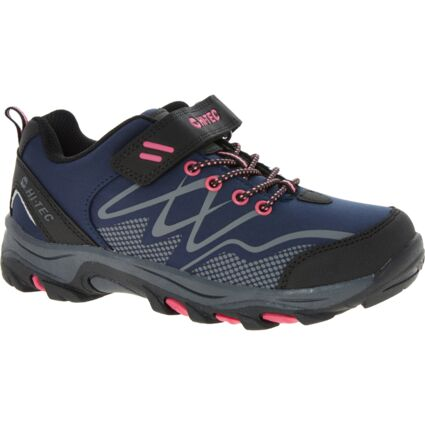 Navy & Pink Blackout Low Trainers