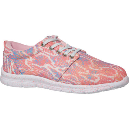 Pink & Blue Reptile Effect Trainers