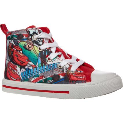 Red Graphic High Top Trainers