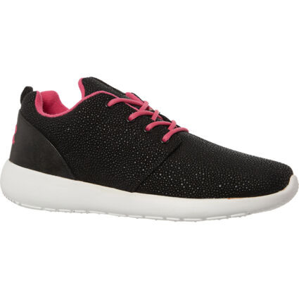 Black & Pink Branded Trainers