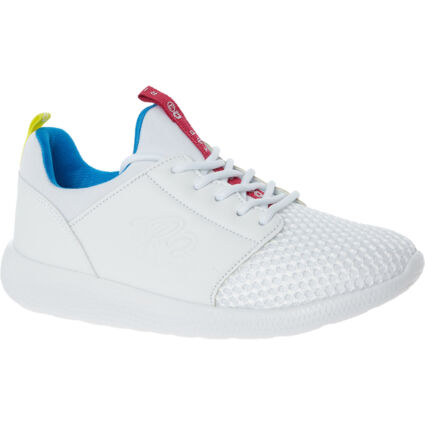 White Signature Branded Trainers