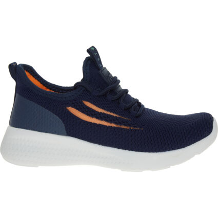 Navy Knitted Trainers