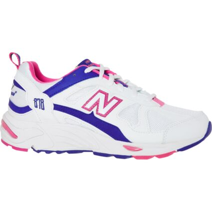 White & Pink 878 Trainers