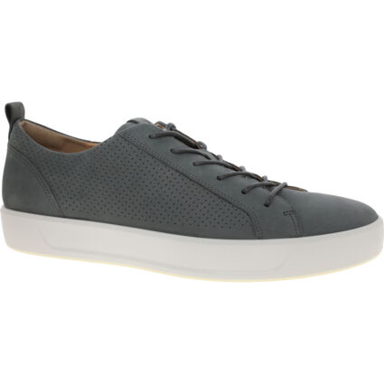 Sage Green Leather Trainers