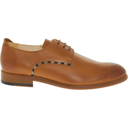 Tan Leather King James Derby Shoes