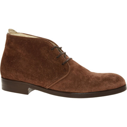 Brown Suede Henry Chukka Boots