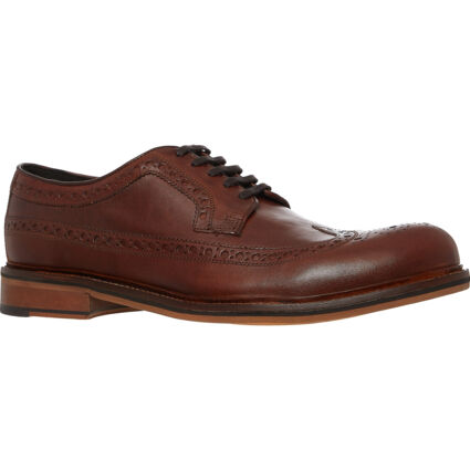 Brown Leather Perforated Brogues