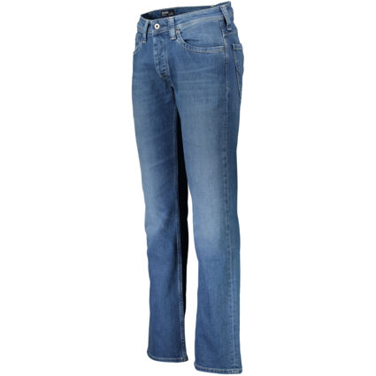 Blue Relaxed Straight Jeans