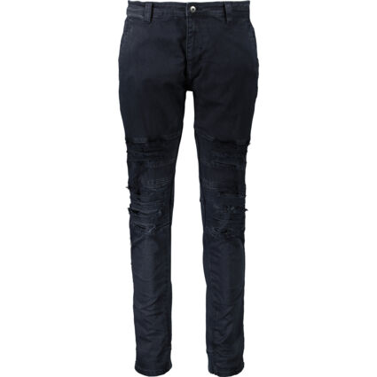 Navy Distressed Trousers