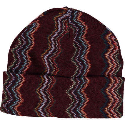 Multicolour Patterned Wool Blend Beanie
