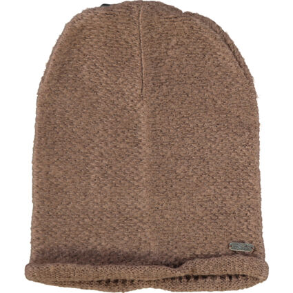 Brown Knitted Beanie Hat