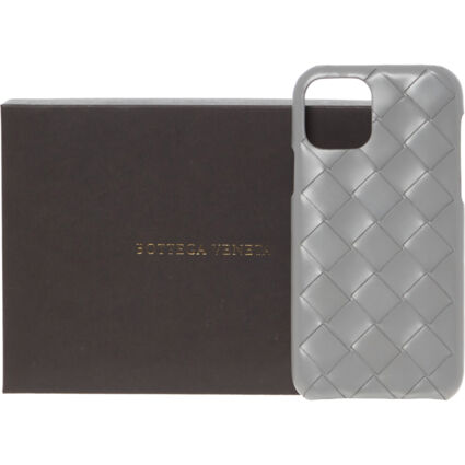 Grey Woven Leather iPhone XI Pro Case