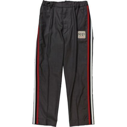 Grey Side Striped Trousers