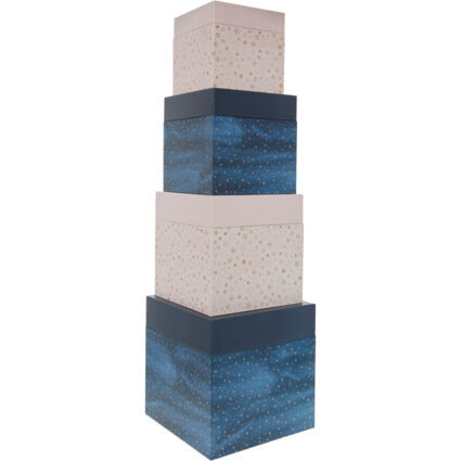 Pink & Blue Square Gift Boxes 24x24cm