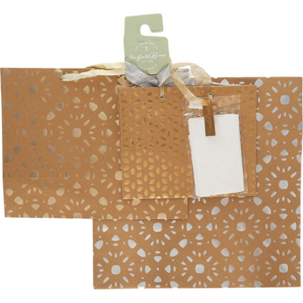 Brown Patterned Gift Bags
