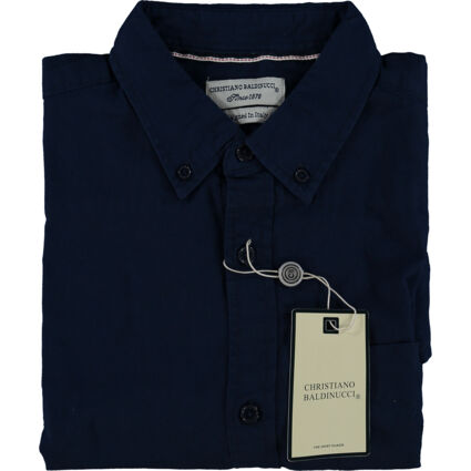 Navy Solid Oxford Shirt