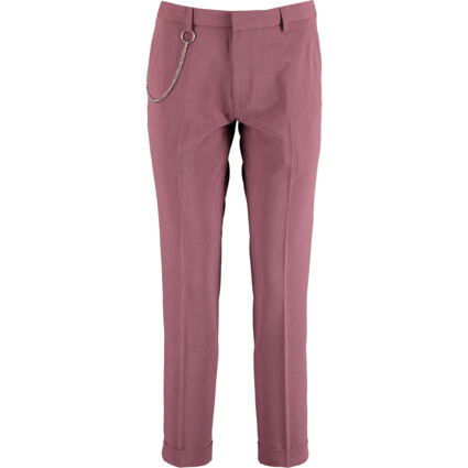 Dark Pink Cropped Trousers