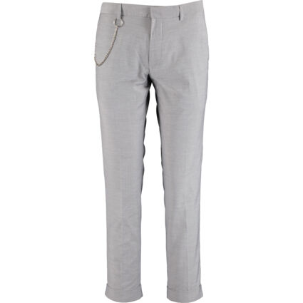 Grey Crop Fit Trousers