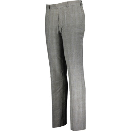 Grey Check Wool Trousers