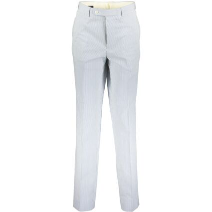 Blue & White Striped Formal Trousers