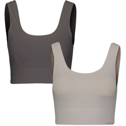 Two Pack Grey Stretchy Padded Bralette