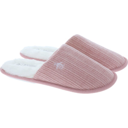 Pink Chenille Mule Slippers