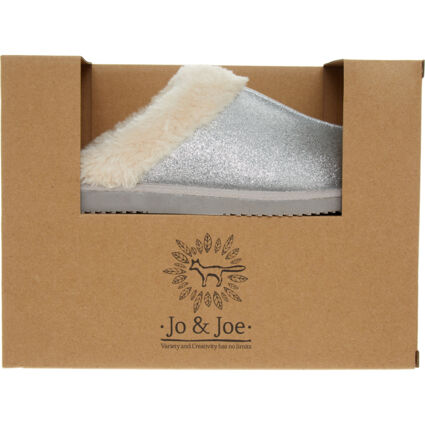 Silver Sparkle Slippers