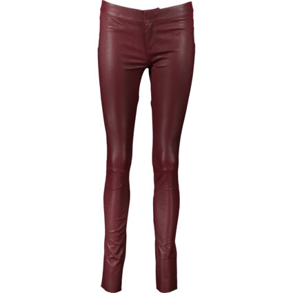 Wine Leather Trousers