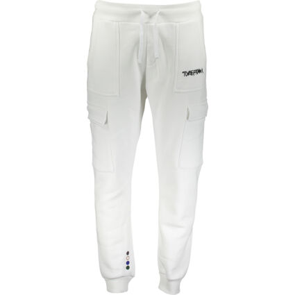 White Recycled Fabric Cargo Joggers