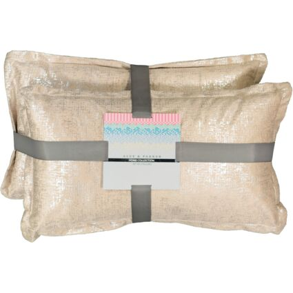 Two Pack Silver Cushions 30x50cm