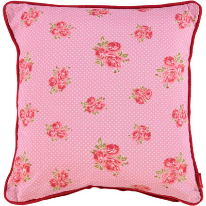 Pink & Red Patterned Cushion 45x45cm