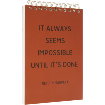 Brown A5 Quote Notepad