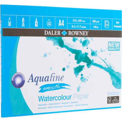 A4 Smooth Watercolour Paper Pad