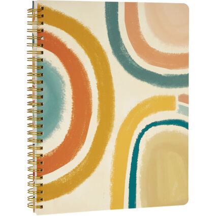 Multicoloured Patterned Notebook