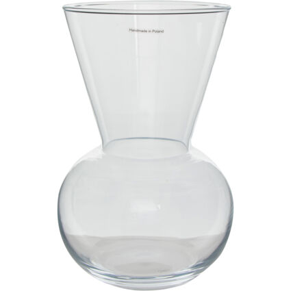 Clear Conicle Vase 30cm