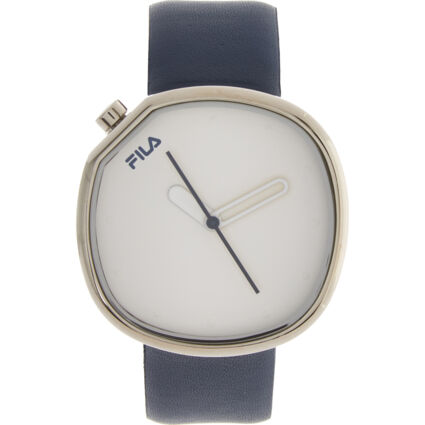 Navy Square Logo Buckle Watch