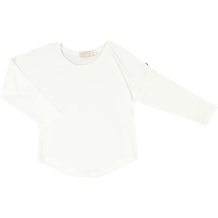 White Sequin Wings Long Sleeve Top