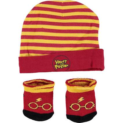 Two Pack Red & Yellow Hat & Socks