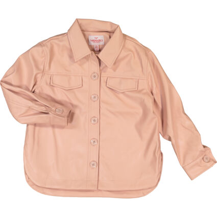 Pink Button Up Shacket