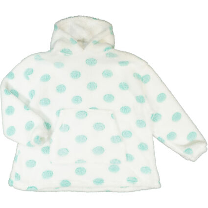 White Spotted Lounge Hoodie