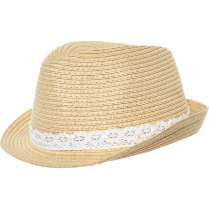 Brown Woven Hat