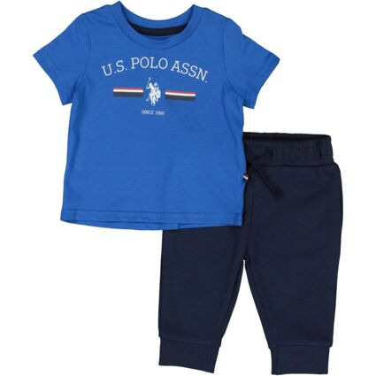 Blue & Navy T Shirt & Joggers Outfit