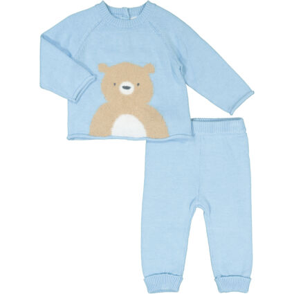 Blue Bear Knitted Outfit