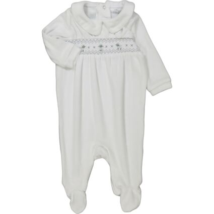 White Embroidered Sheep Bodysuit