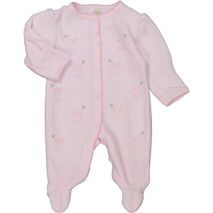 Pink Embroidered Bunny Bodysuit