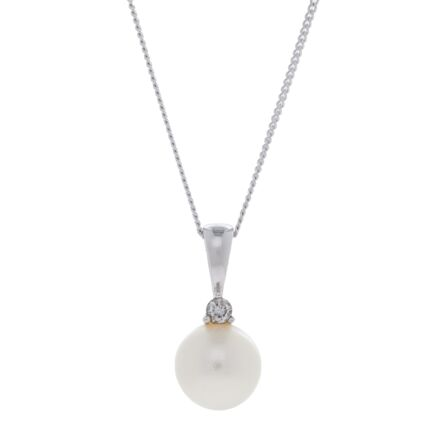 9ct White Gold Freshwater Pearl Necklace