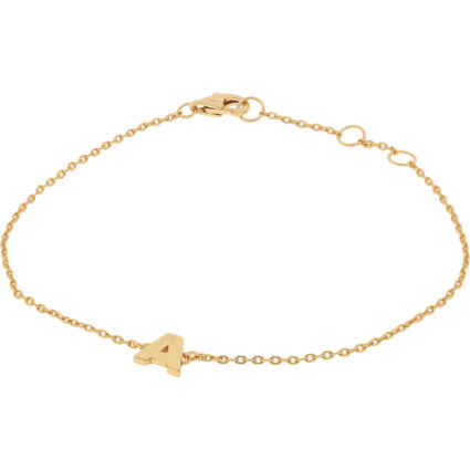 Gold Plated Sterling Silver Initial A Bracelet
