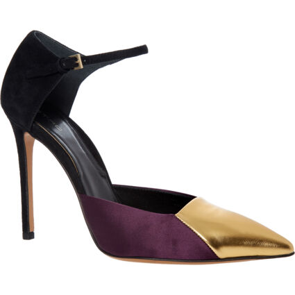 Multicoloured Ankle Strap Heels